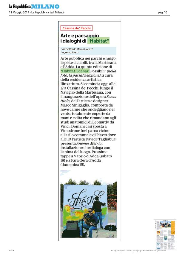 articolo La Repubblica su Habitat